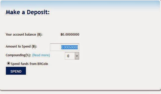 Minimal deposit di earntomorrow adalah 50k satoshi