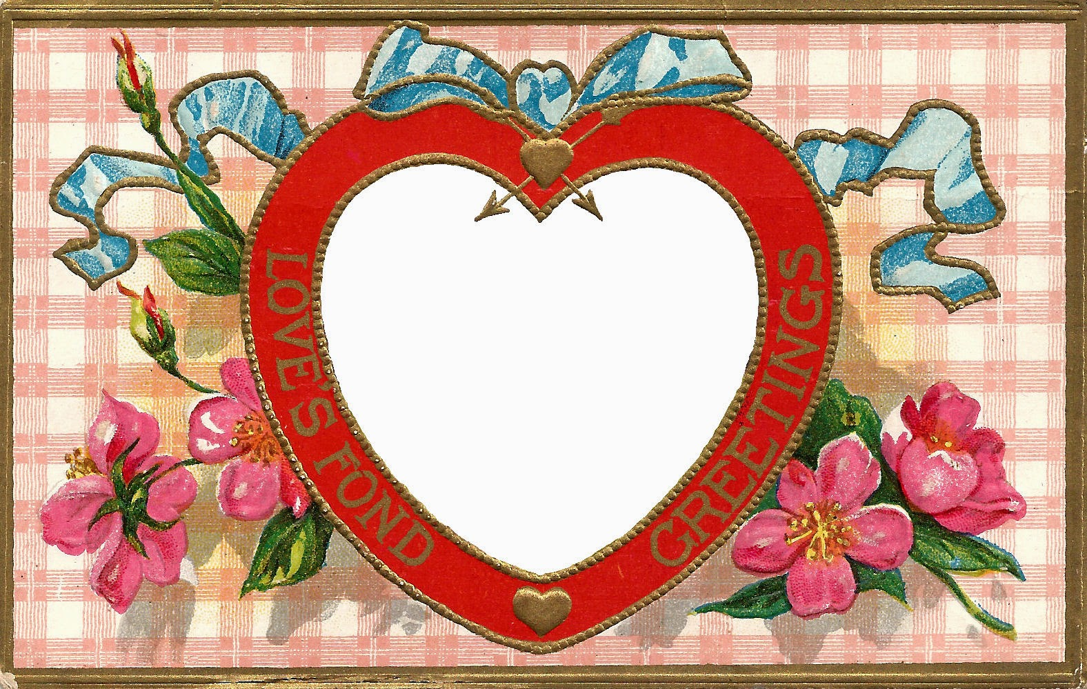 heart floral frame valentine - photo #34