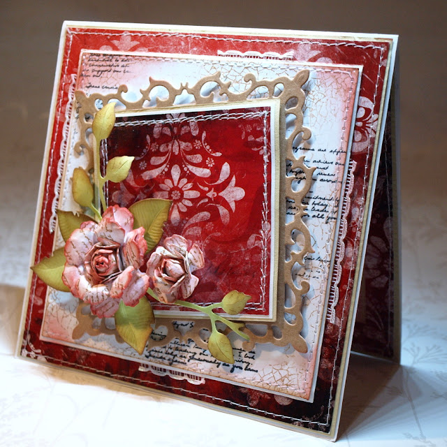 handmade card - by Ewa Jarlińska