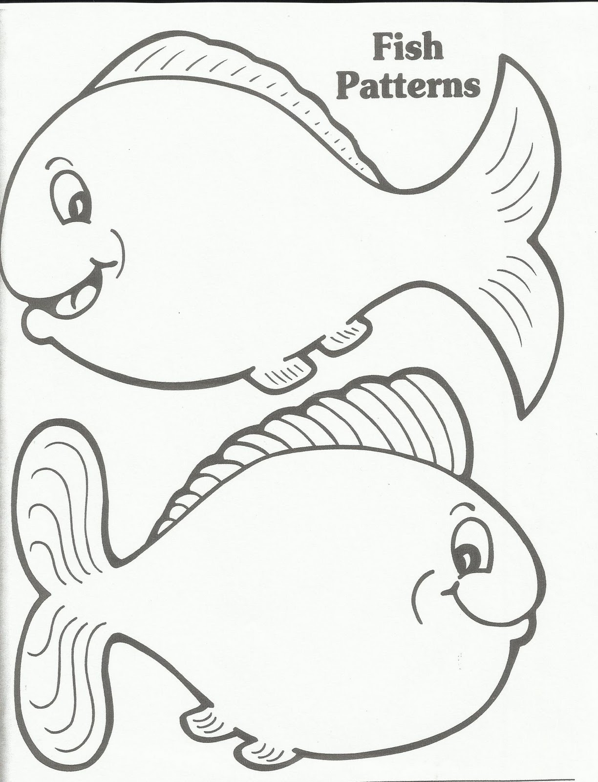 Goldfish pattern printable 1 fish 2 fish red fish for Printable fish pictures