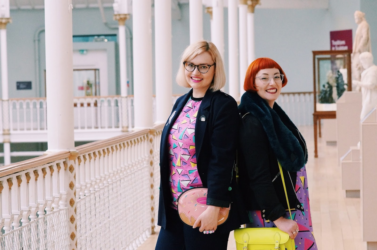 Helen and Kimberley, Wardrobe Conversations, Boya Shen, moveit video project, YouTube, National Museum of Scotland, Dreamland Clothing, JACKet by Jill Skulina, jose Pankhurst, Yoshi bag, Nicely Eclectic vintage, #scotstreetstyle, #edfashion, photoshoot, Scottish bloggers,