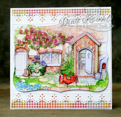 Dina Kowal Creative Flower Soft Sprinkle Challenge Square Cards