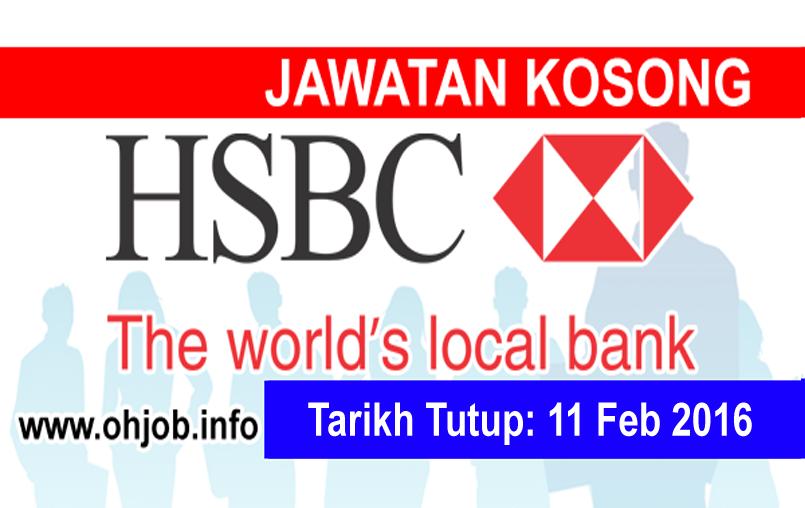 Jawatan Kerja Kosong HSBC Bank Malaysia Berhad logo www.ohjob.info februari 2016