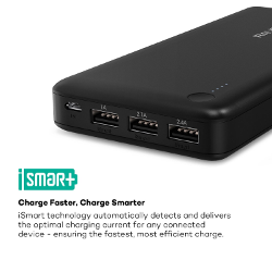 [Most Potent 26800mAh Portable Charger] RAVPower 3-Port External Battery Pack Power Bank with Most Powerful 5.5A Output, iSmart Technology for iPhone, iPad and Samsung Galaxy and More
