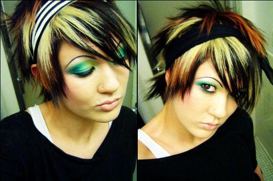 emo boys hairstyles. scene oy oy hairstyles
