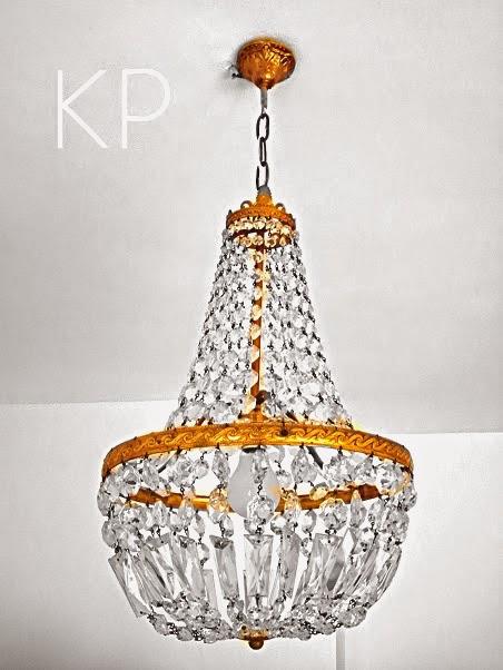 Lampara francesa de lagrimas vintage chandelier