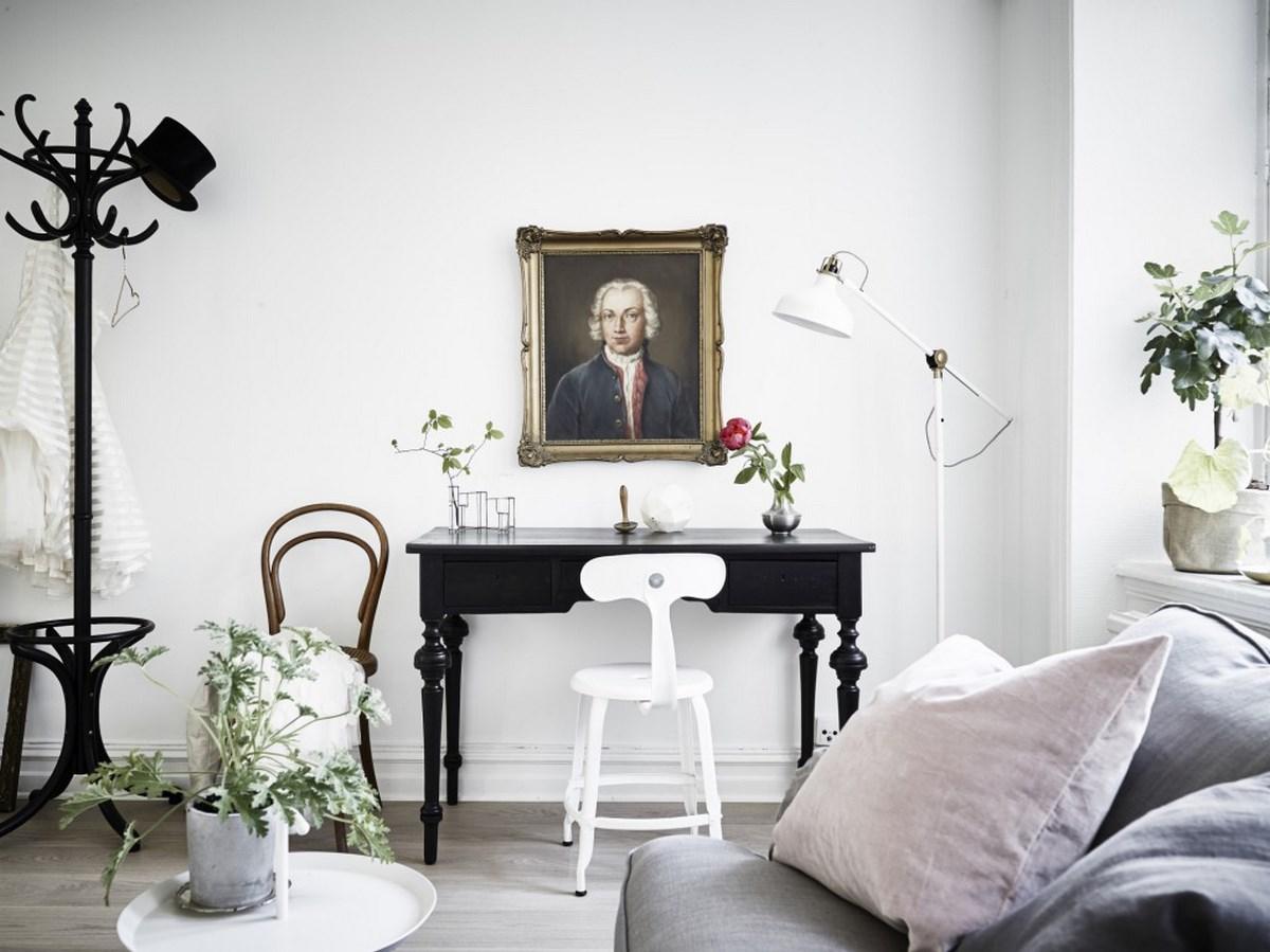 Decoraci n de una casa peque a con estilo cl sico n rdico for Living estilo clasico