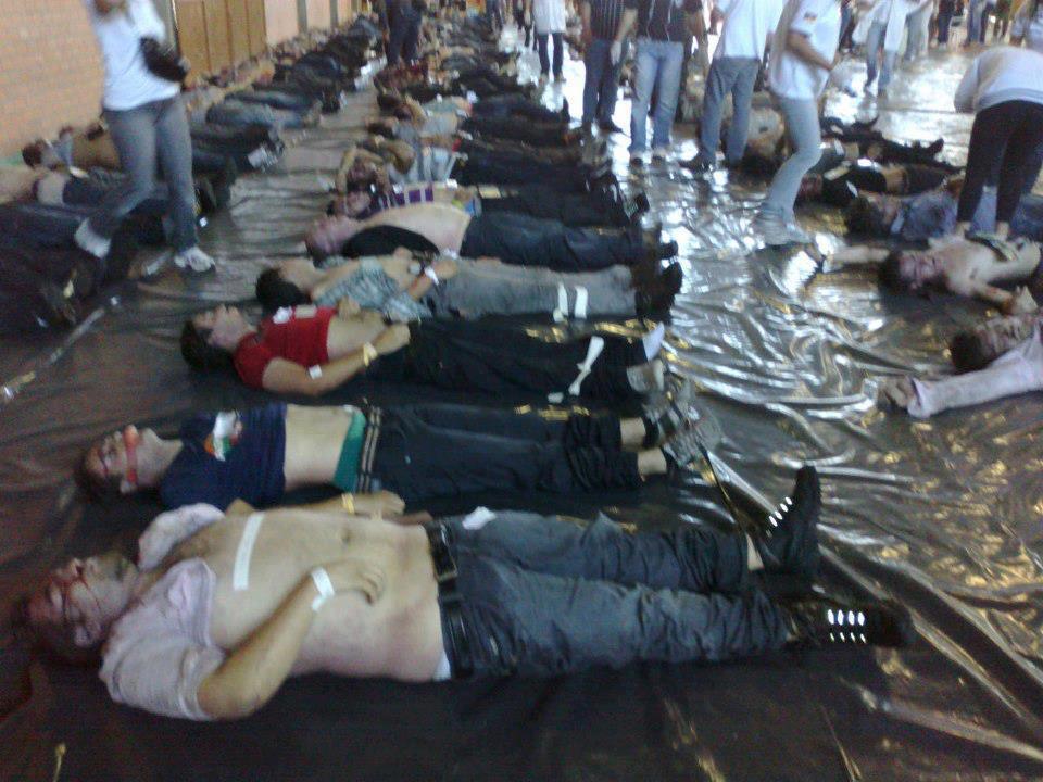 Veja fotos de corpos no Centro Desportivo Municipal em Santa Maria RS