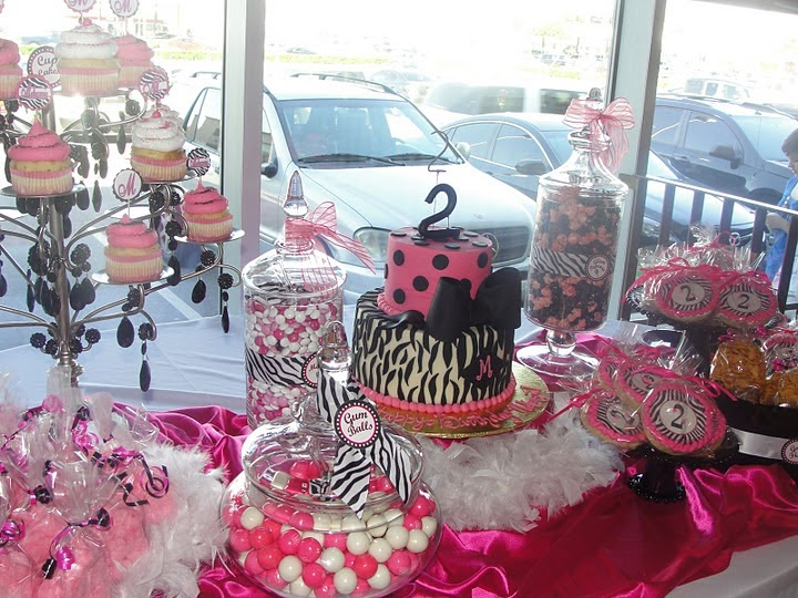 the amazing candy buffets and fun food designers of sugar bunch creations  jazzy hot pink
