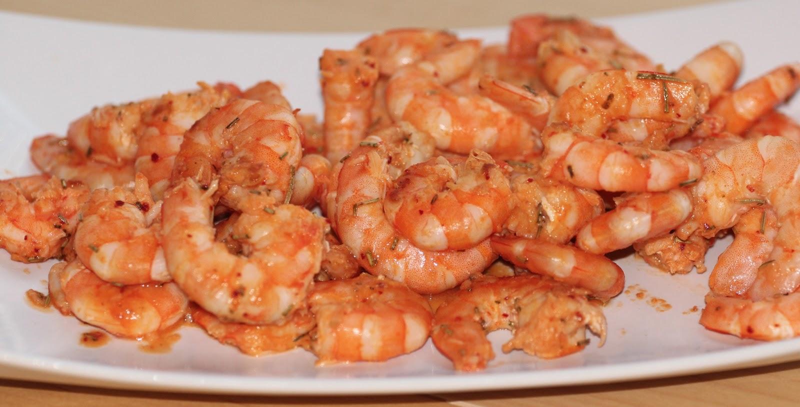 miam, maman j'ai faim!: crevettes sautÉes au romarin et piment d