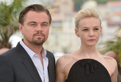 Photo Leonardo DiCaprio (G) et Carey Mulligan à Cannes
