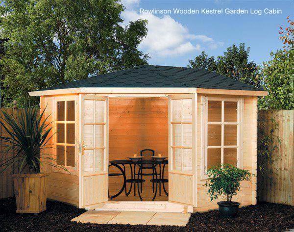 Cabina de madera para jardín hecha de madera en Inglaterra