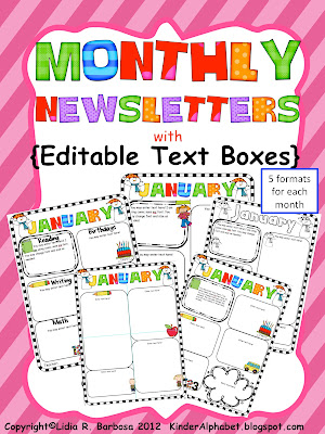 free editable newsletter templates for teachers newsletter templates with monthly themes perfect for