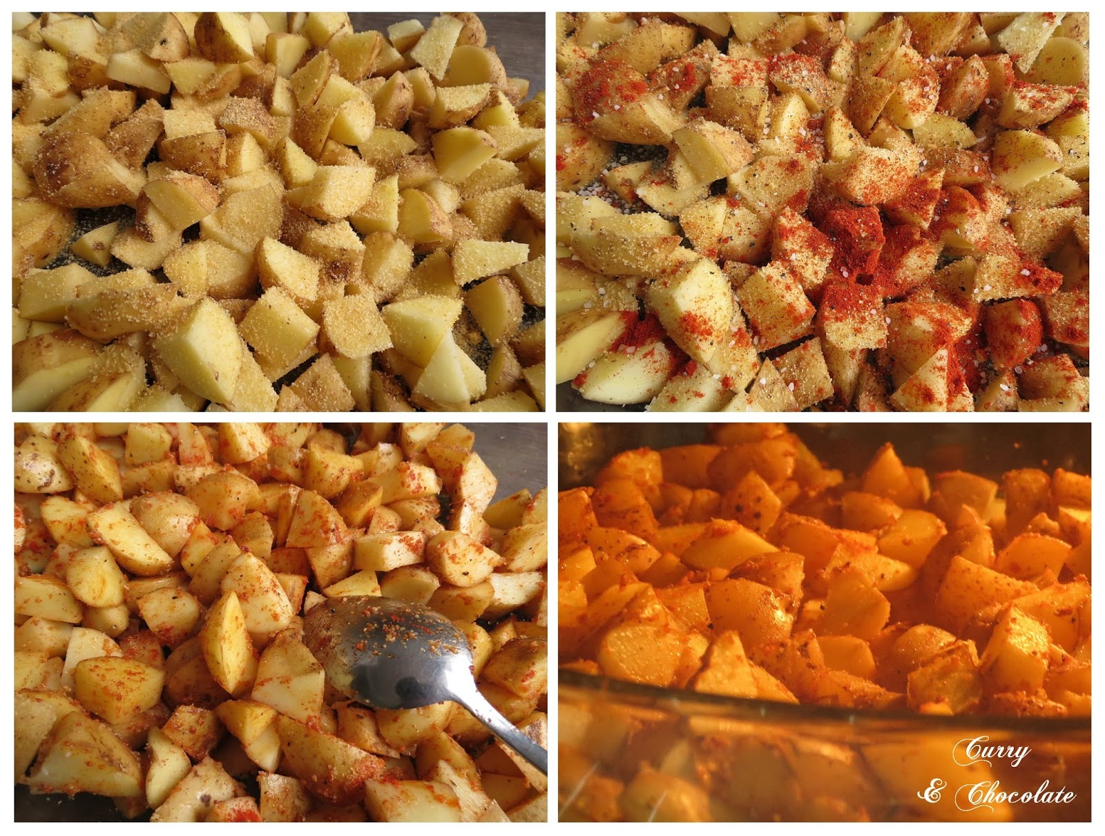 Preparando las patatas