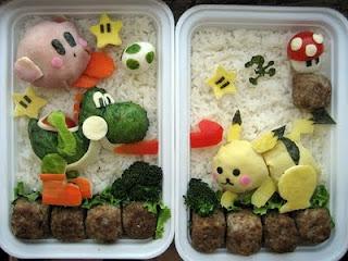 Tartera Personajes de Nintendo hechos con comida