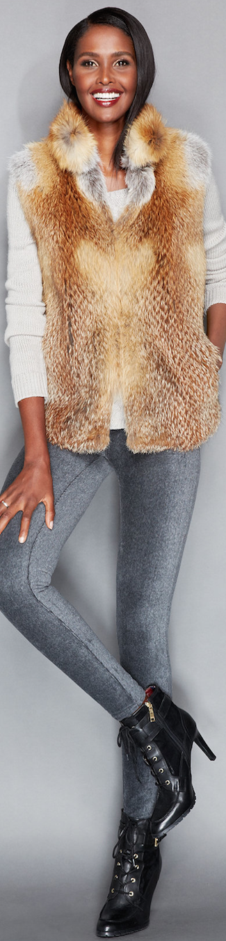 The Fur Vault  Red Fox Fur Vest