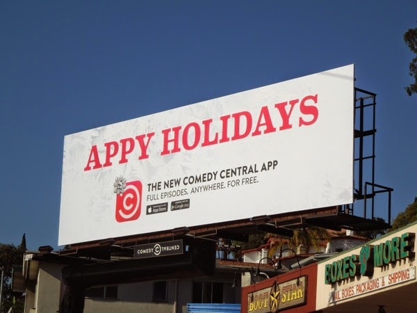Comedy Central Appy Holidays billboard
