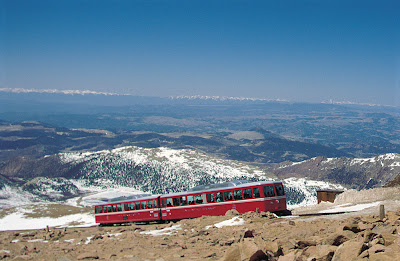 Pikes Peak Cog Railway #Colorado #ColorfulColorado www.thebrighterwriter.blogspot.com