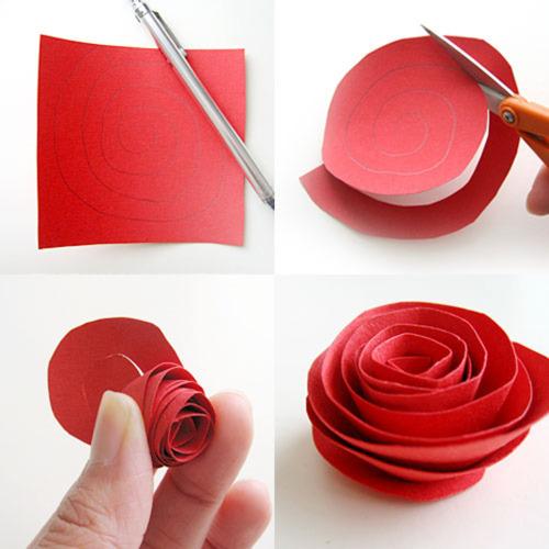 como hacer rosas de papel - Hacer Rosas De Papel