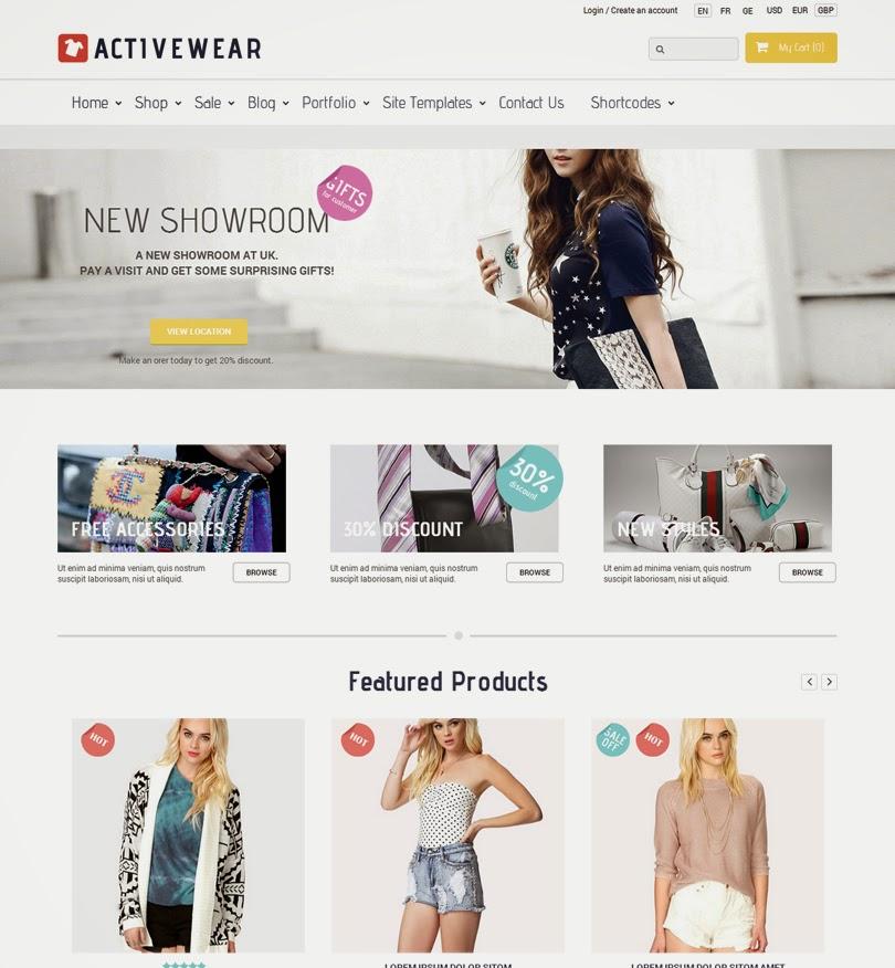ActiveWear – WooCommerce Responsive WordPress Theme