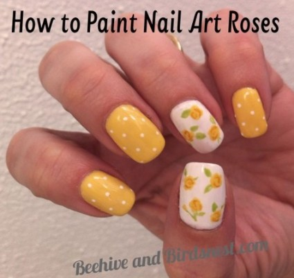 Be Differentt Normal How To Paint Nail Art Roses Tutorial