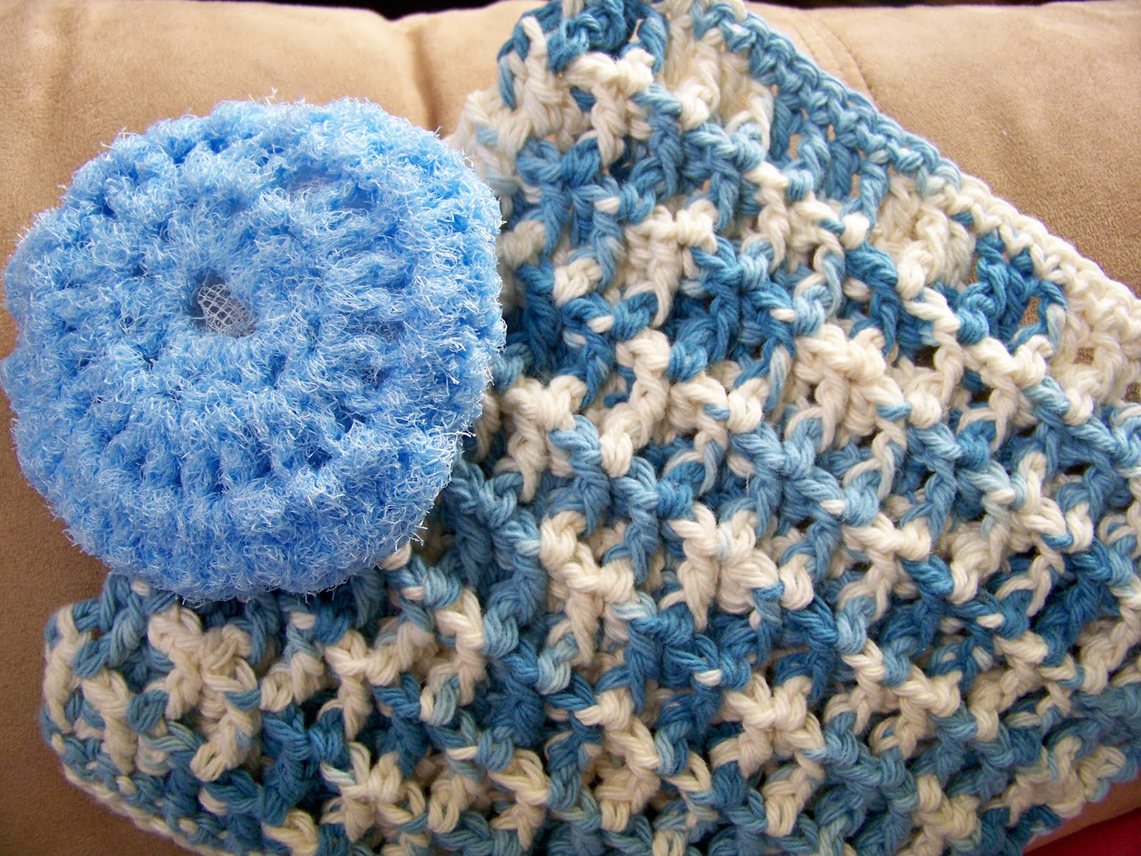 Crocheting Scrubbies With Netting : Simply HomeMade: Scrubby Tutorial/Pattern