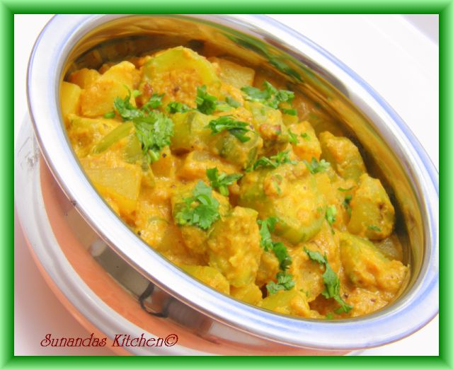 Potol Aloor Malai Curry