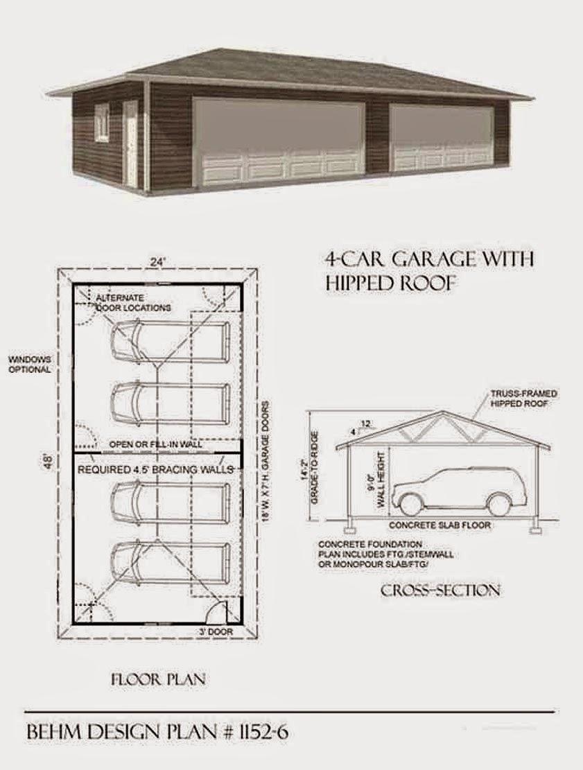 Garage plans blog behm design garage plan examples 6 car garage plans