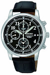 Seiko Men's SNDC33 Classic Black Leather