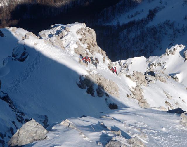 Secondo salto cresta Nord - Terminillo