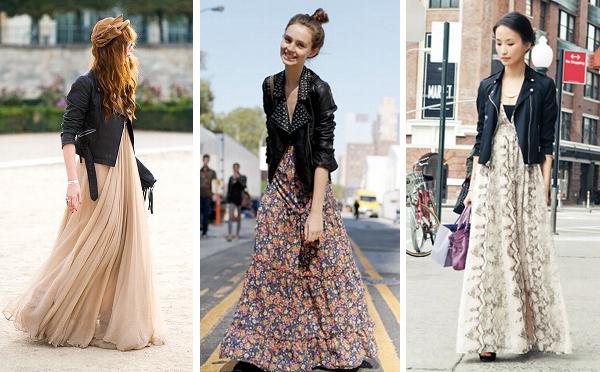 vestido-longo-com-jaqueta-de-couro