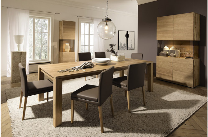 Latest modern house furniture design expandable dining for Dining table set latest design
