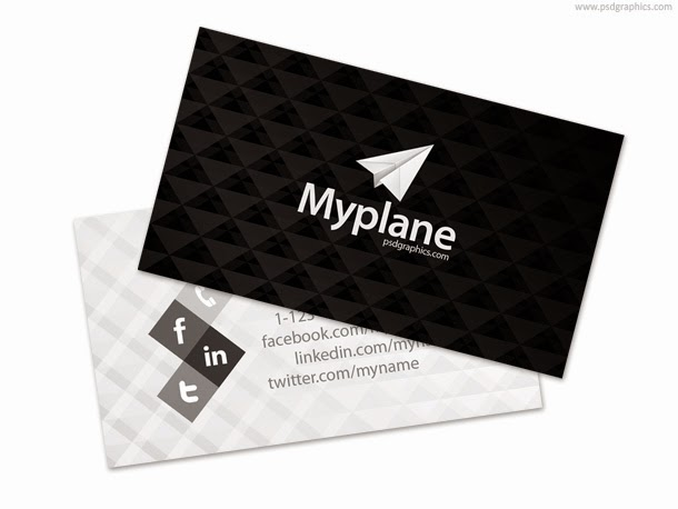 Black and White Business Card PSD