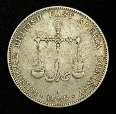 Coins of British East Africa Company one Rupee Silver Coin