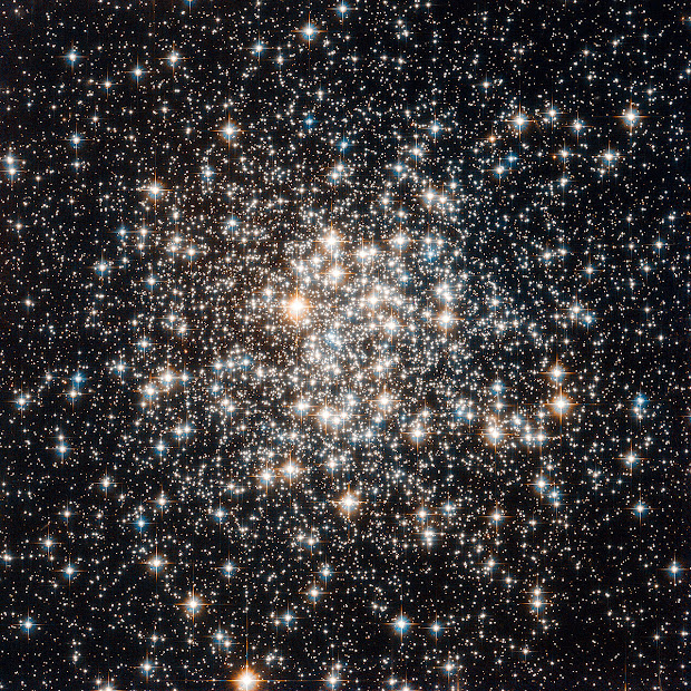 Globular Cluster M107 as imaged by Hubble
