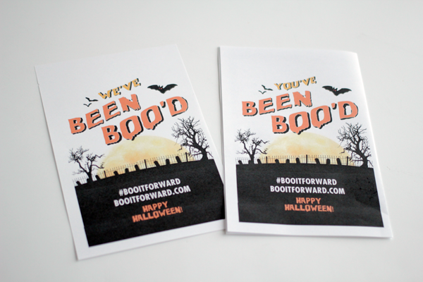 Make a BOO kit and #BOOitForward