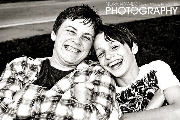 Brothers Having Fun at Family Photography Session in Orlando, Florida