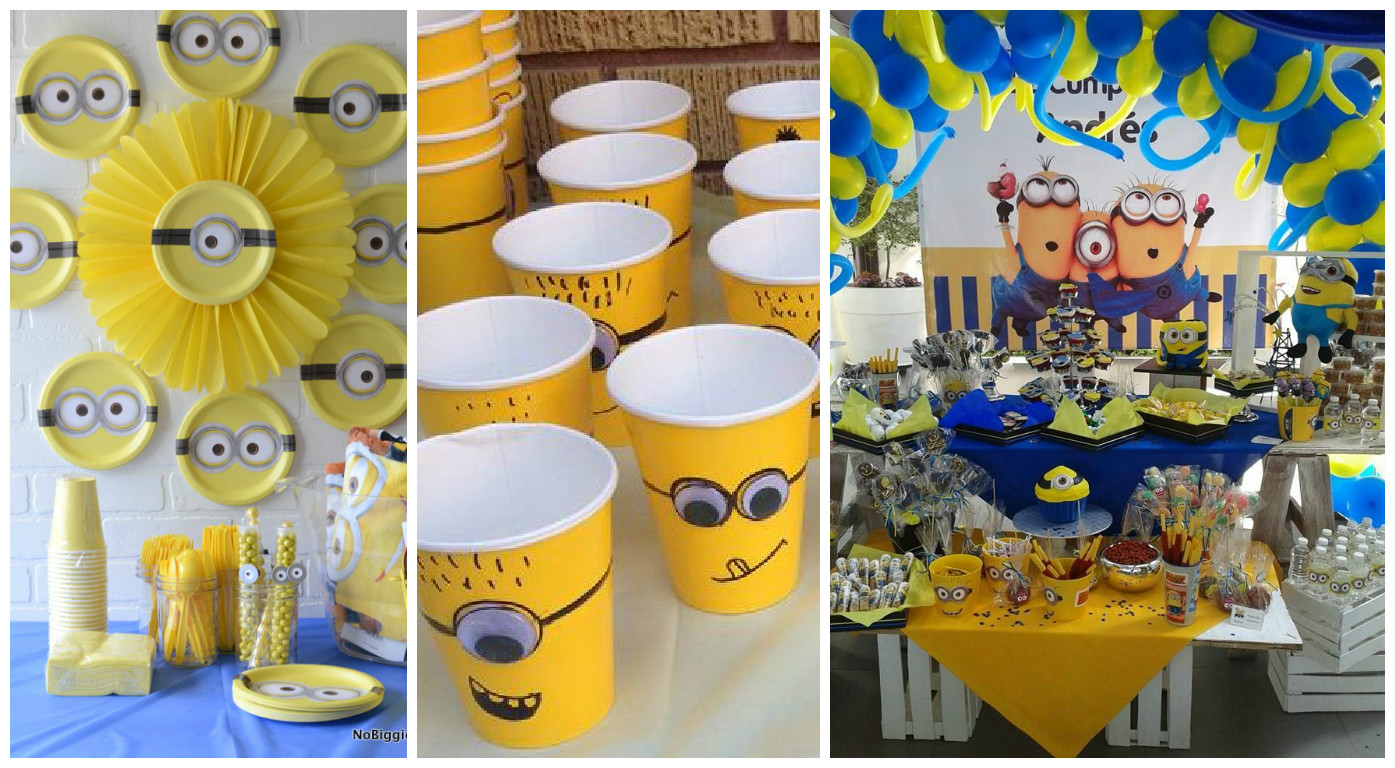 Decoraci n y ideas para una fiesta de minions cositasconmesh for Decoraciones para hacer en casa