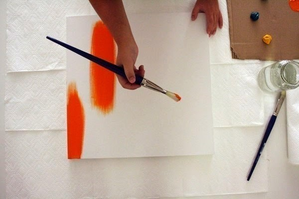 C mo pintar un cuadro t cnica f cil cositasconmesh - Pintura acrilica pared ...