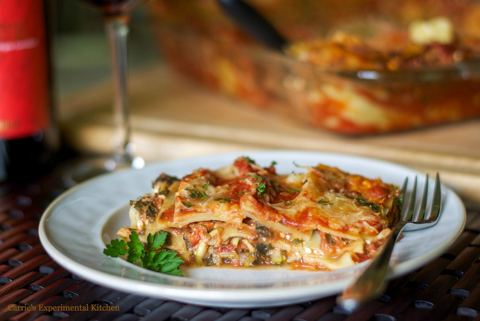 Low Fat Vegetable Lasagna Carrie S Experimental Kitchen