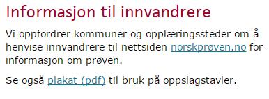 prøve norsk a1 b1