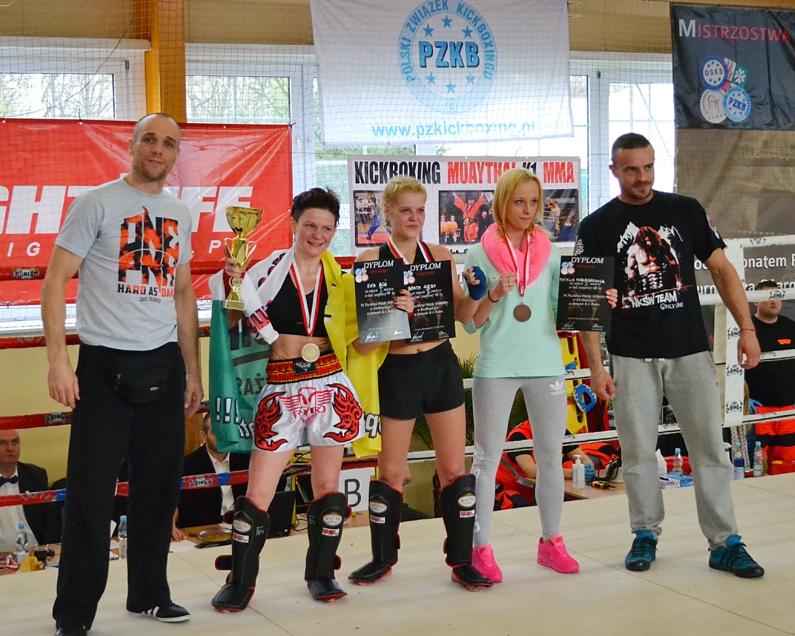 """Adam """"RUDY"""" Hirko, Ewa Boś, low kick, k-1, sport Zielona Góra, Ożarów Mazowiecki, sporty walki"""