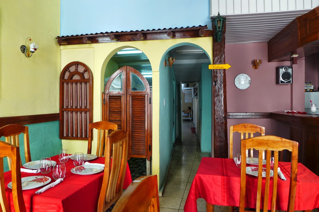 Santiago de Cuba interior of Primos Twice restaurant