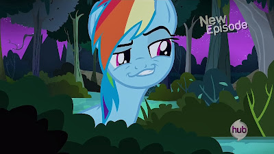 Rainbow Dash impersonates... er... someone?