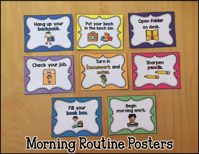 Classroom Routine Ideas ~ Primary chalkboard establishing your morning routine and