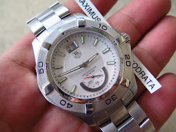 TAG HEUER AQUARACER 300m WHITE DIAL - GRANDE DATE - SUB SECOND