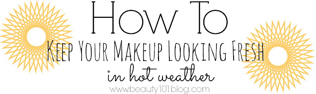 5 awesome tips on how to keep your makeup looking awesome in hot weather! #makeup #summer #beauty #howto