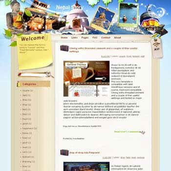 Nepal Story Blogger Template. blue color template blogger
