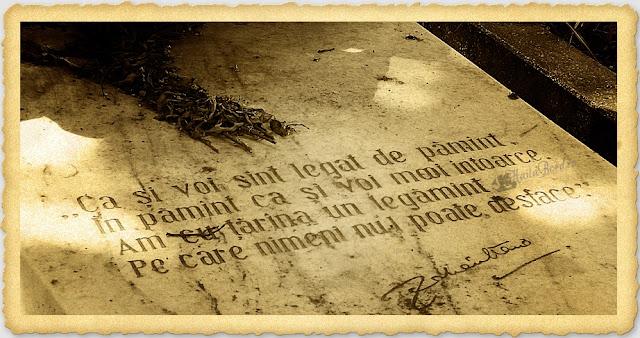 citat mormant zaharia stancu cimitir bellu