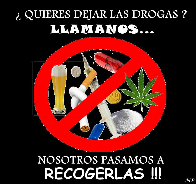 Señal de no a las drogas.